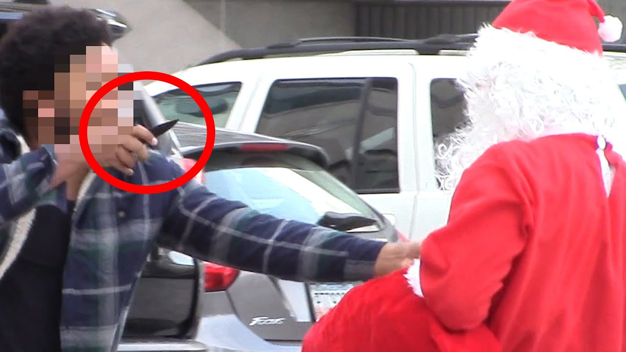 Santa Giving Gifts To Homeless Gone Wrong