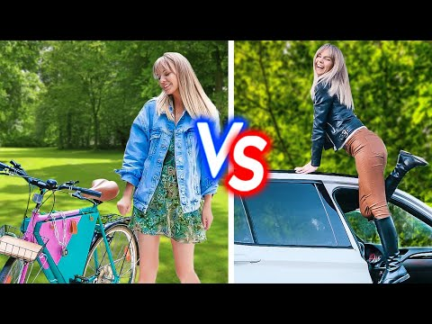 Bicycle VS Car    Cool Gadgets For Car Owners And Smart Hacks For Cyclist thumbnail