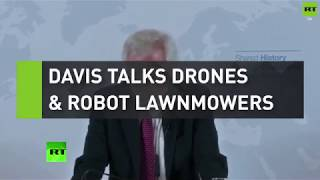David Davis talks drones and robot lawnmowers in Brexit speech