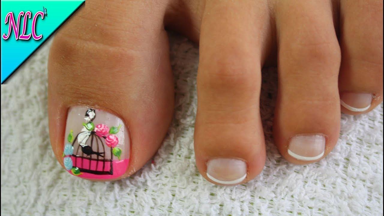 Decoraci n de u as para pies jaula vintage vintage nail for Decoracion unas pies