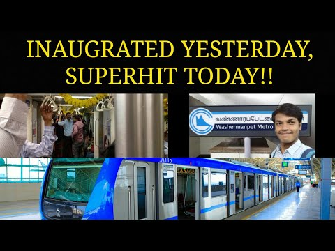 FIRST RIDE in AG-DMS - WASHERMANPET CHENNAI METRO RAIL NEW ROUTE! || COMPLETE VLOG!