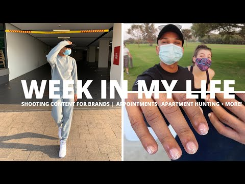 WEEK IN MY LIFE VLOG | SHOOTING CONTENT FOR BRANDS | APPOINTMENTS | APARTMENT HUNTING | RAMONISRAEL