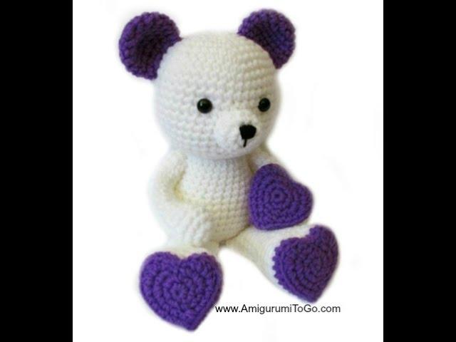 Couple teddy bear with red heart crochet knitting handmade on ... | 480x640