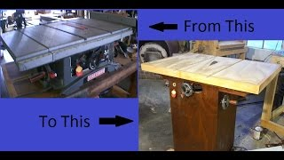 Old to New Tablesaw