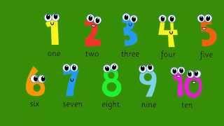 Учим числа. Learn numbers.