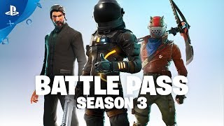 Fortnite - Battle Pass Season 3 Announce (Battle Royale) | PS4
