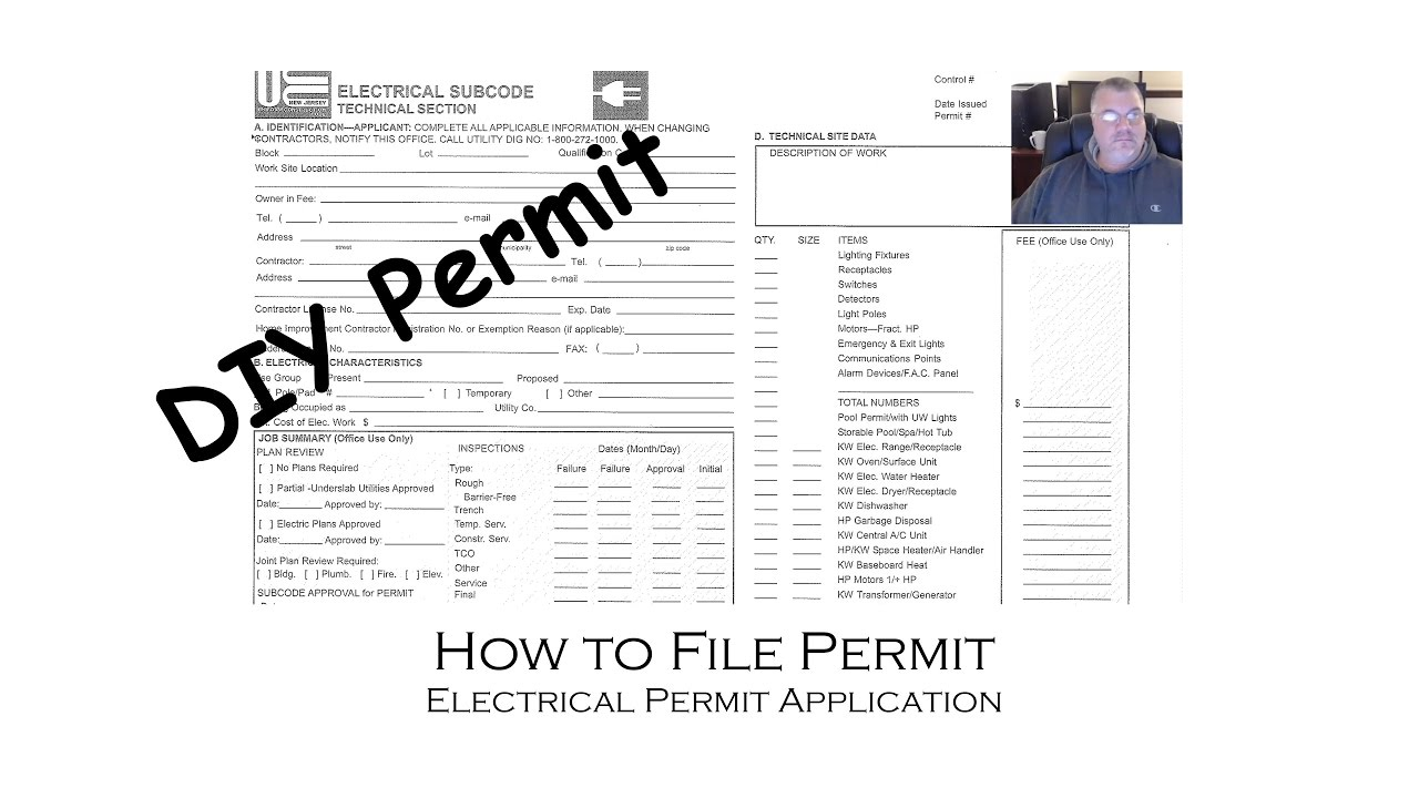 How to apply and file an electrical permit for do it for How to find a good home builder