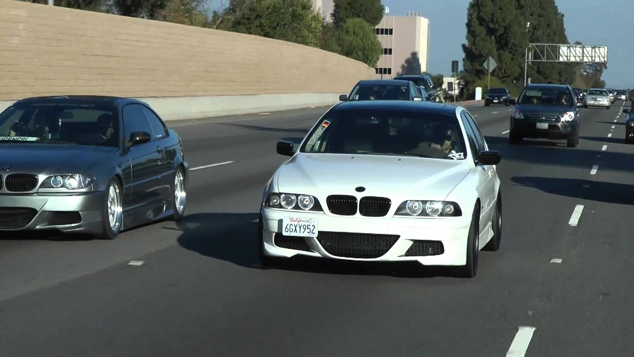 bmw e46 coupe and e39 rollin on highway bodykit by prior. Black Bedroom Furniture Sets. Home Design Ideas
