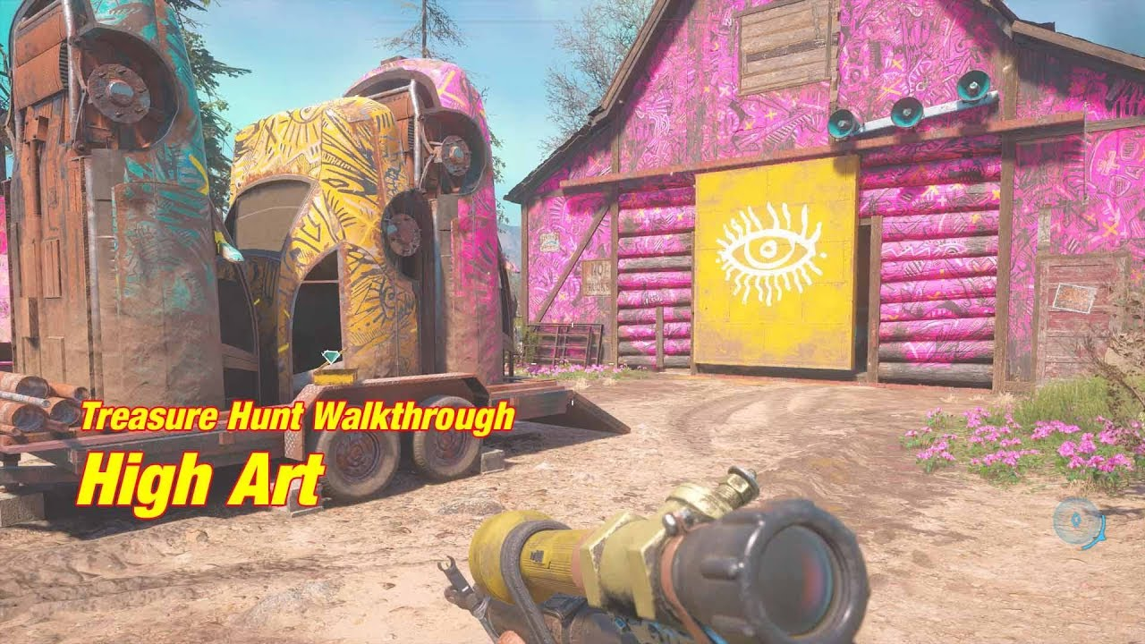 Far Cry New Dawn High Art Treasure Hunt Youtube