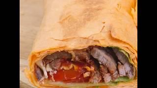 Рецепт домашней шаурмы с говядиной   Роллы с говядиной и томатным соусом
