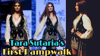 SOTY 2 Star Tara Sutaria FIRST Rampwalk In Full Confidence at Lakme Fashion Week 2019