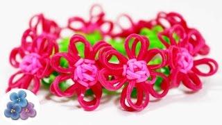 How To Make Bracelets With Flowers Easy Rainbow Loom Diy Kawaii Rubber Band Bracelet Mathie