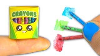Miniature kawaii crayons (actually work) and box tutorial DIY ❤ - YolandaMeow♡ thumbnail
