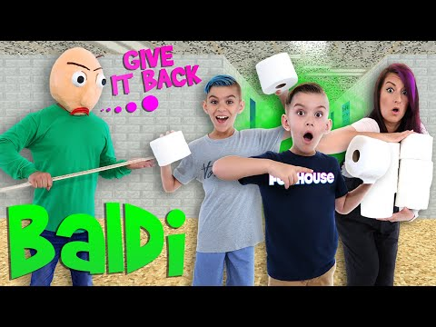 WE STOLE BALDI'S TOILET PAPER! Baldi's Basics In Real Life (FUNhouse Family)