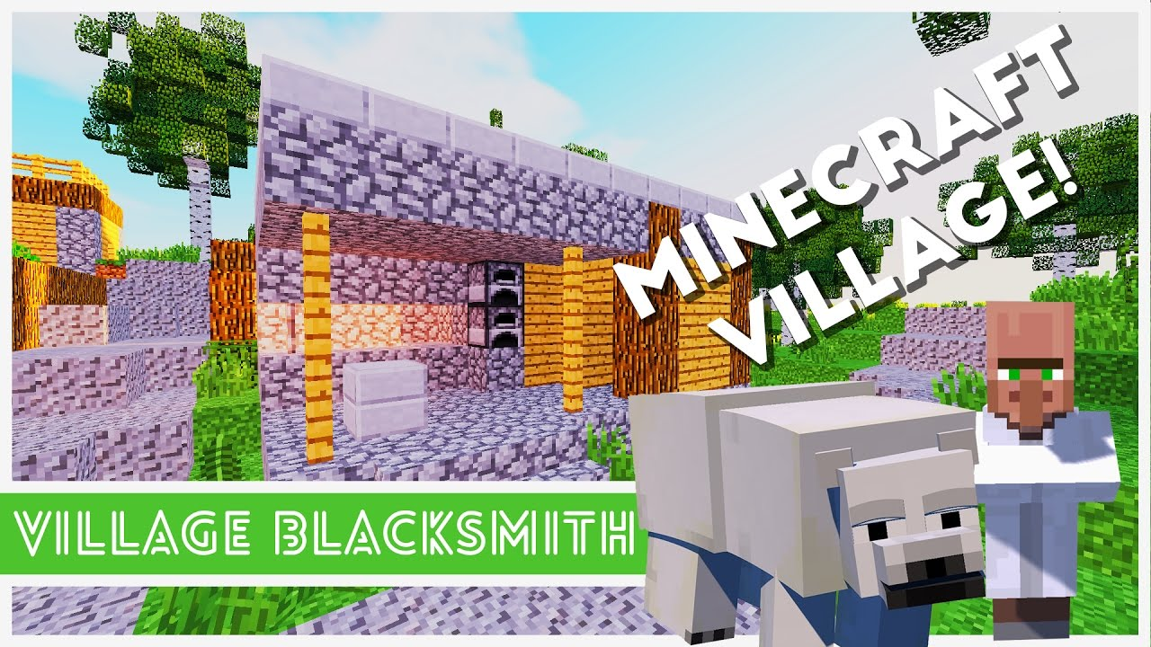 Minecraft Village Garden minecraft - how to make a village blacksmith - youtube