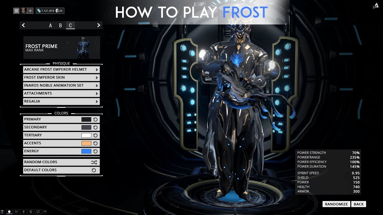 warframe how to play frost