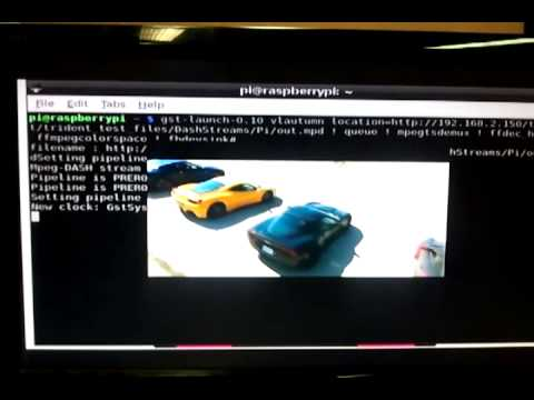 MPEG DASH Playback On RaspBerry Pi Model B