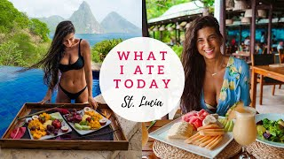 WHAT I ATE TODAY | Raw Food Vegan in St. Lucia! vegan what i eat in a day travel vlog