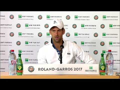 Novak Djokovic  Press conference after lose . French Open 2017