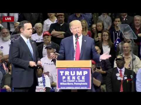Dan Scavino Joins Trump on Stage in Wilkes-Barre, PA 10/10/16