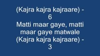 Kajra Kajra Kajraare LYRICS