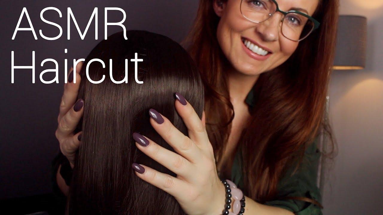 Relaxing ASMR Hair Session ✂️ Head Massage, Brushing, Spraying, Cutting & Oil