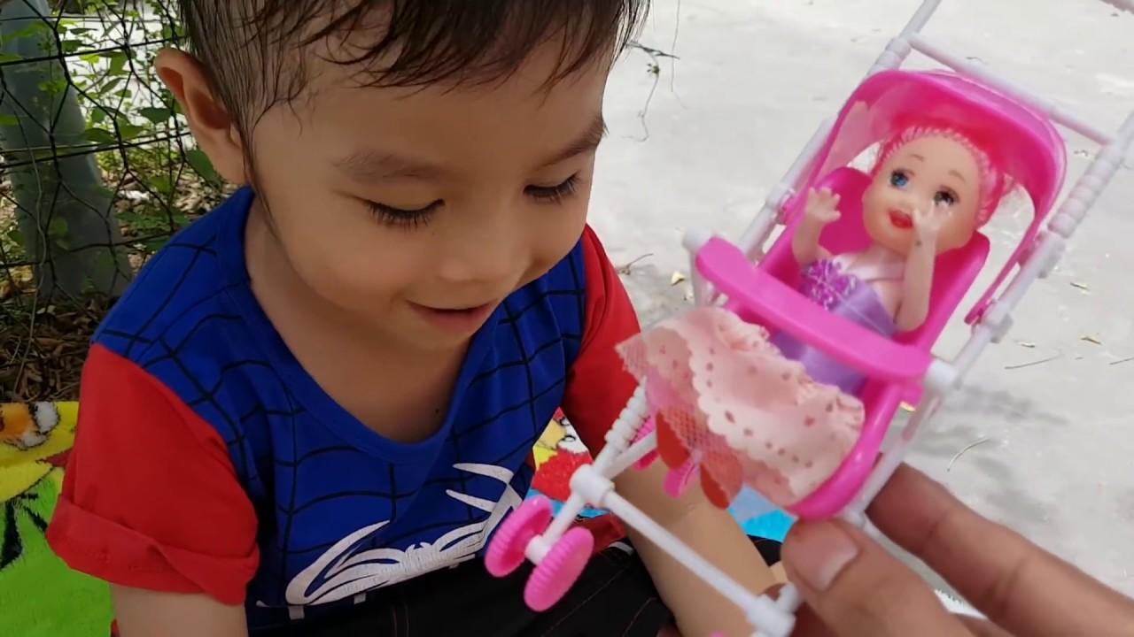 Trò Chơi Đi Săn Xe Đạp Và Búp Bê Baby Doli ❤ ChiChi ToysReview TV ❤ Đồ Chơi Baby doll song