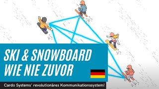 Skifahren und Snowboarden wie nie zuvor mit Cardo Systems revolutionärem Kommunikationssystem!