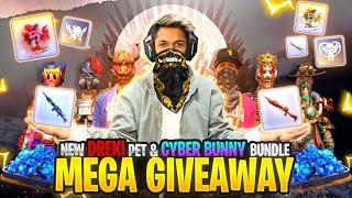 Special Giveaway For you Soon ? Globle Top 1 40,000 Badges Diamond King Is Back Free Fire Live