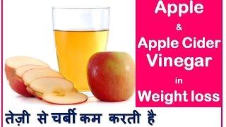 सेब के सिरके: तेज़ी से चर्बी कम करें | Quick Weight loss with Apple & Apple Cider Vinegar |