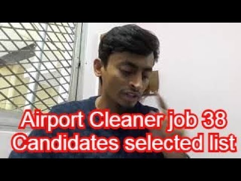 Airport Cleaner job 38 Candidates selected list please check your Name and Passport No