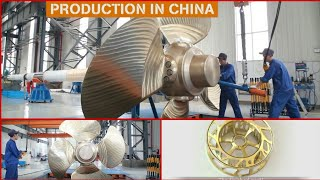 CNC Machine In Working To Make Super Huge Propeller And Other Satisfying CNC Lathes