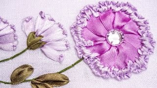 Embroidery | Ribbon Flower Design | Hand Stitching Tutorials | HandiWorks #78