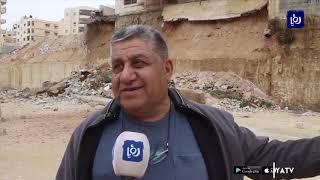 إخلاء مبنى سكني في الزرقاء بعد انهيار جدار استنادي - (12/12/2019)