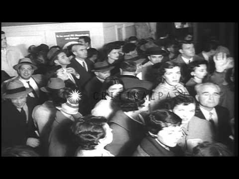 Democrats and Republicans prepare for the Presidential election of 1960 in the Un...HD Stock Footage
