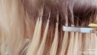Снятие капсульного наращивания 😊 hair extensions