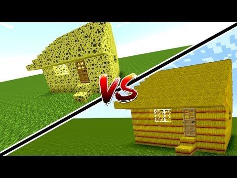 SÜNGER EV VS SAMAN EV! (Minecraft)