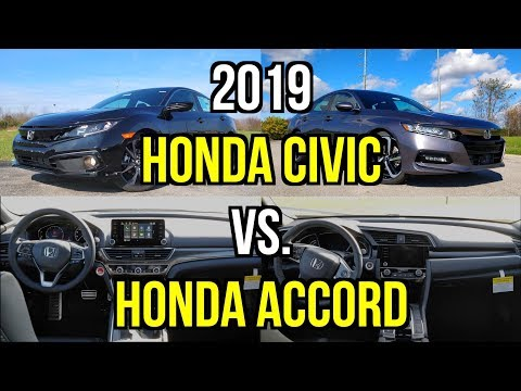 HONDA SHOWDOWN -- 2019 Honda Civic Vs. 2019 Honda Accord: Comparison