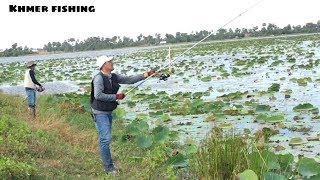 Awesome Fishing Technique - Fishing Traditional Technique Fish Near My Village By Rot Fishing # 10