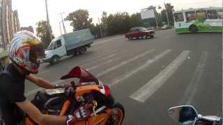 Прохват по Томску. Honda CBR 1000RR & Yamaha R6 ч.2