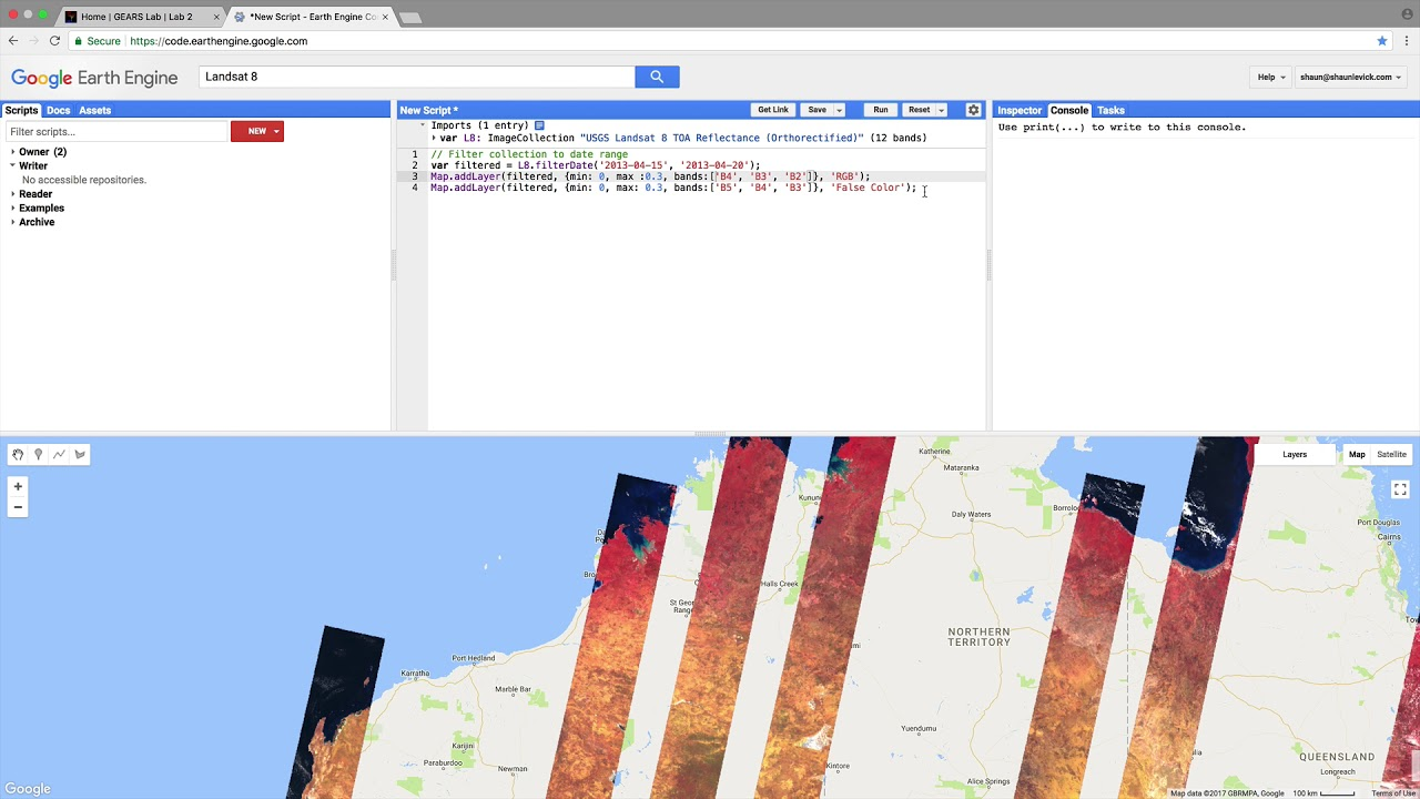 Landsat NDVI time-series in Google Earth Engine