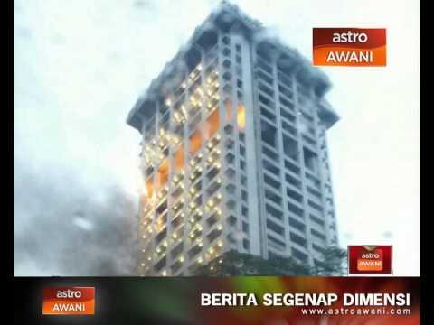 Menara Bukit Aman terbakar