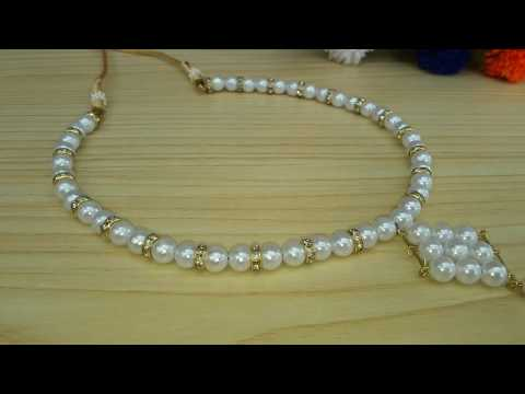 Hand made pearl Necklace | how to make a beautiful Necklace