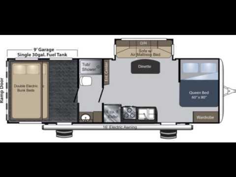 raptor 27fs travel trailer toy hauler at big daddy rv's new floor