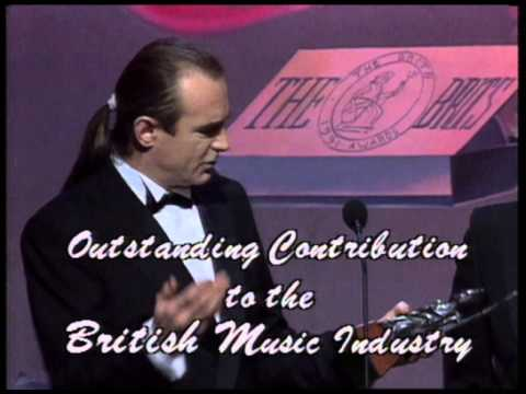 Status Quo win Outstanding Contribution presented by Terry Ellis | BRIT Awards 1991