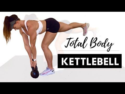 TOTAL BODY KETTLEBELL HIIT FOR FAT LOSS 30 Minute Follow Along Workout
