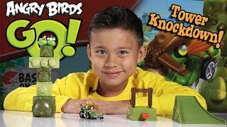Angry Birds GO! Jenga TOWER KNOCKDOWN Game!