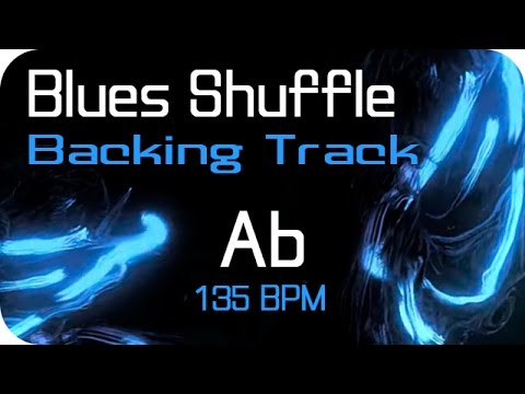 Blues Shuffle Backing Track in Ab (135bpm)