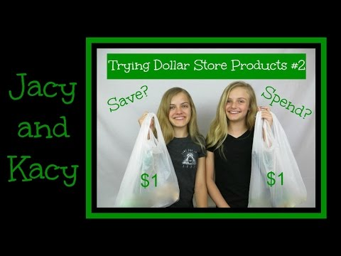 Trying Dollar Store Products #2 ~ Save or Spend? ~ Jacy and Kacy