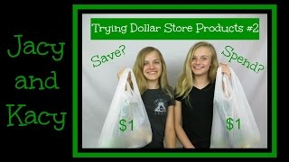 Trying Dollar Store Products ~ Save or Spend? #2 ~ Jacy and Kacy
